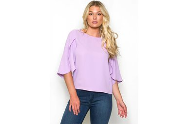 ELLEN OPEN SLEEVE TOP