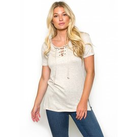 JENSEN LACE UP TEE