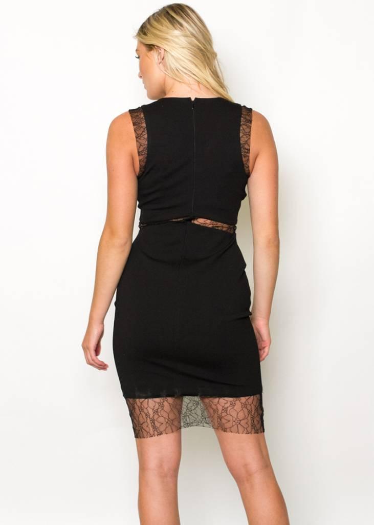 DANICA BLACK BODYCON DRESS