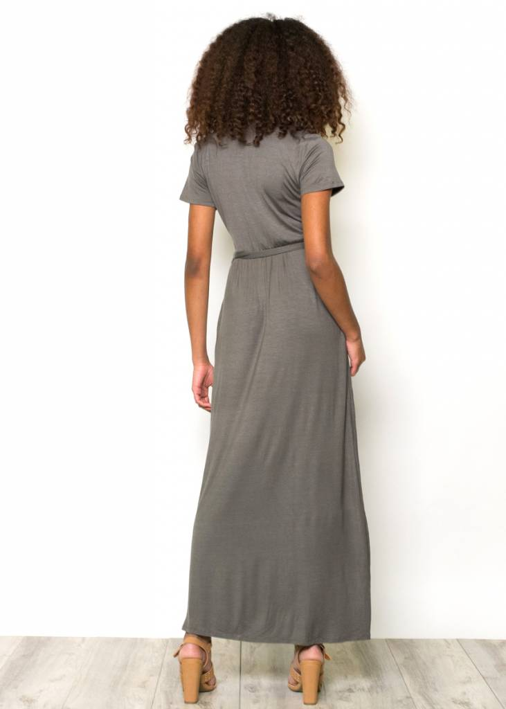 LENORE OLIVE MAXI DRESS