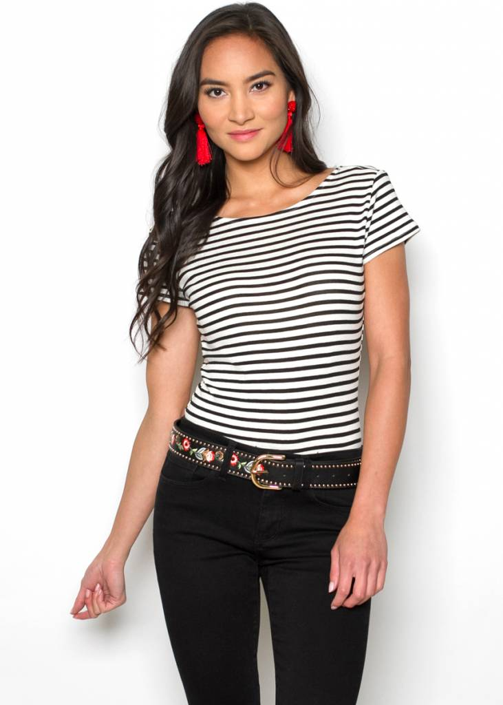 HEIDI STRIPED T-SHIRT BODYSUIT
