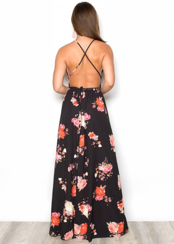 RHEA FLORAL MAXI DRESS