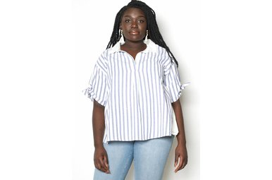 ALI STRIPED SHORT SLEEVE TOP