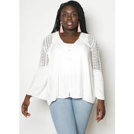HOLLY WHITE LACE BUTTON UP