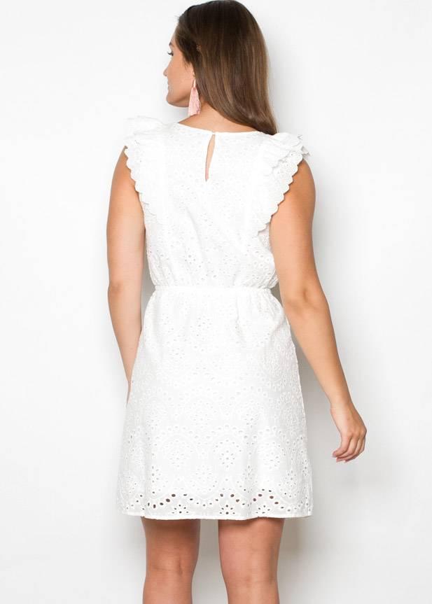 JOHANNAH WHITE EYELET DRESS