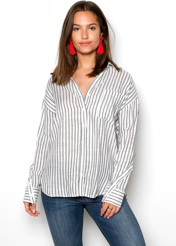 KARLY STRIPED BUTTON UP