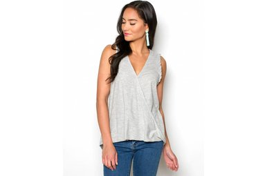 OCTAVIA SURPLICE TANK TOP