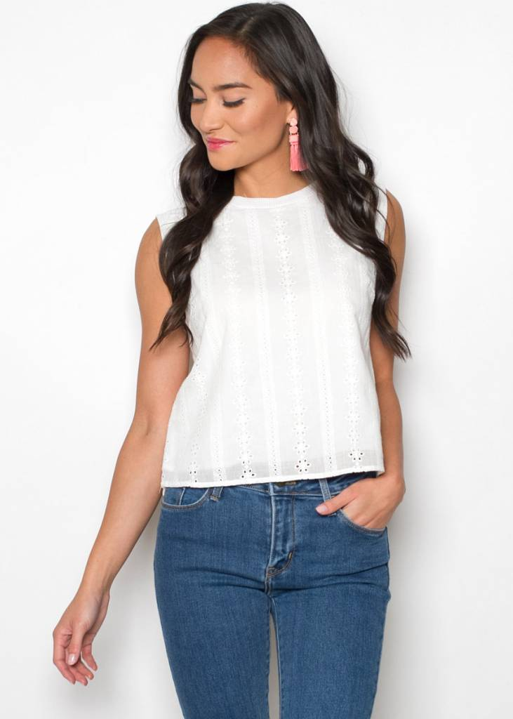 HARMONY EYELET SLEEVELESS TOP