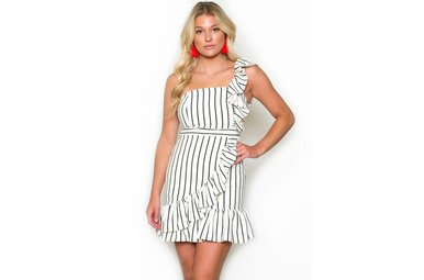 TALULAH ONE SHOULDER DRESS