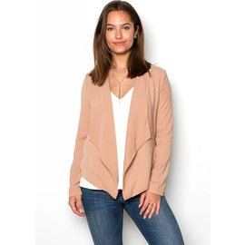 QUINN TAUPE CROPPED BLAZER
