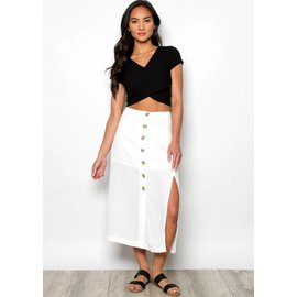 KENNEDY WHITE MIDI SKIRT
