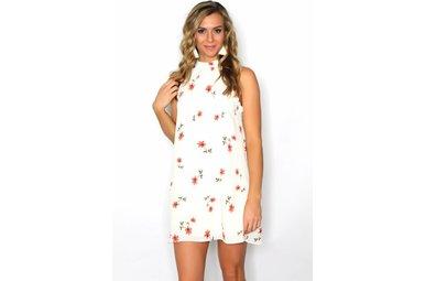 JADEN FLORAL HALTER DRESS