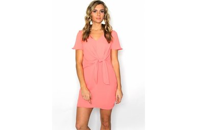 ROSALIE FRONT TIE SHIFT DRESS