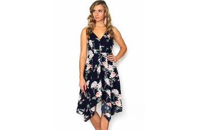 LINA NAVY FLORAL DRESS