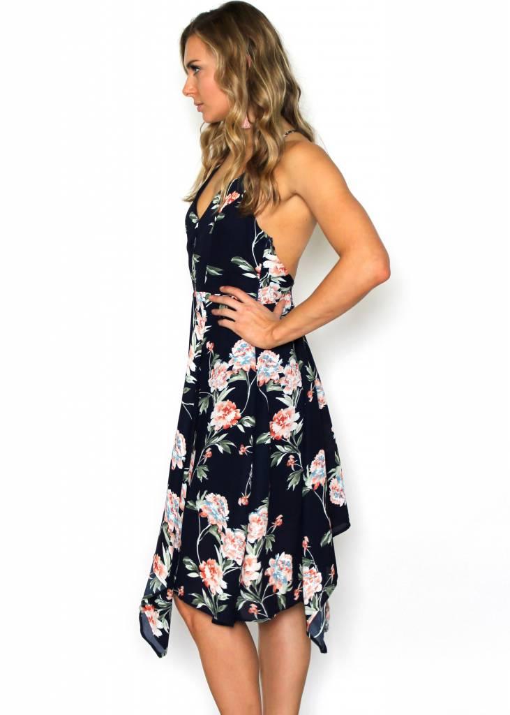 LINA NAVY FLORAL DRESS