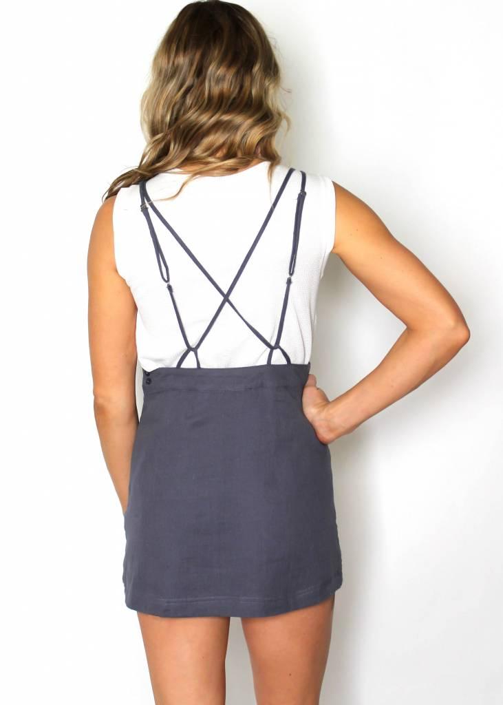 SIERRA GREY PINAFORE DRESS