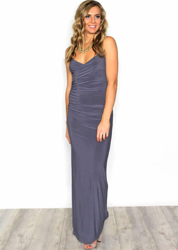 ANDREA RUCHED FULL LENGTH GOWN