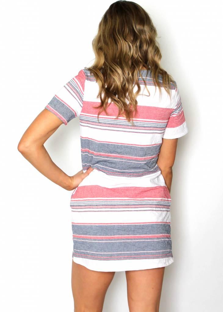 RUTH STRIPED T-SHIRT DRESS