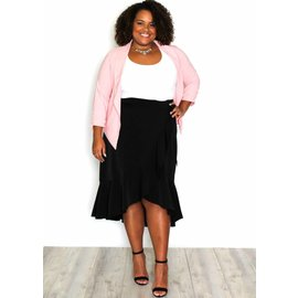 EVELYN BLACK MIDI SKIRT