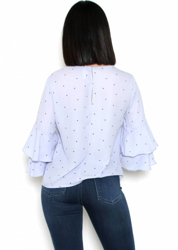 ELENA TIERED BELL SLEEVE BLOUSE