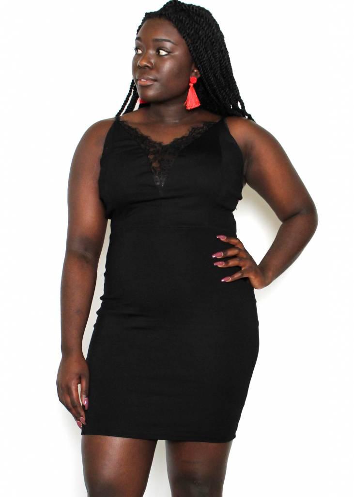 KINSLEY BLACK BODYCON DRESS