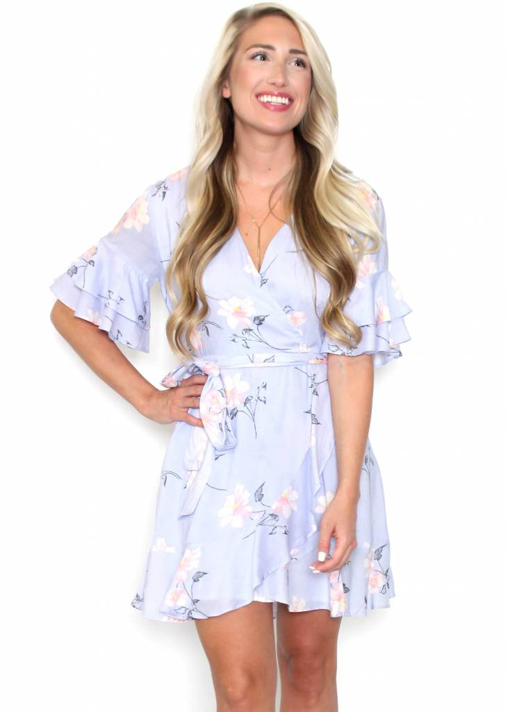 GRACIE TIERED BELL SLEEVE DRESS