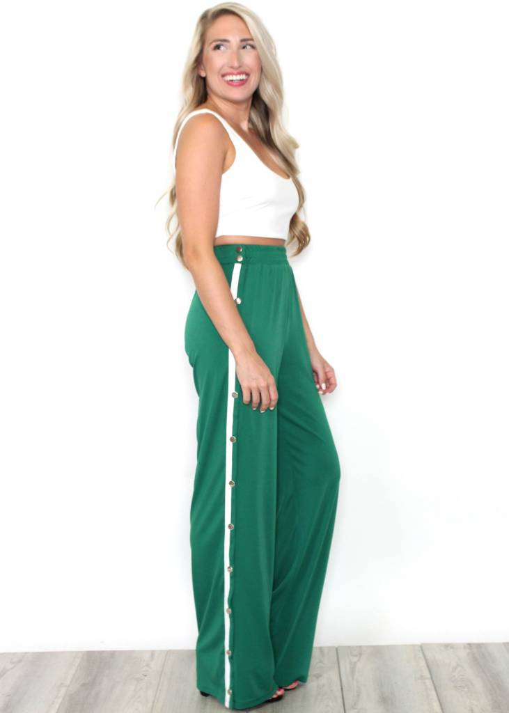 CAITLYN GREEN TRACK PANTS