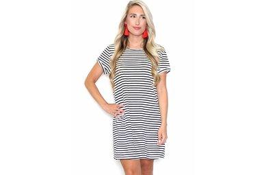 VIRGINIA STRIPED T-SHIRT DRESS
