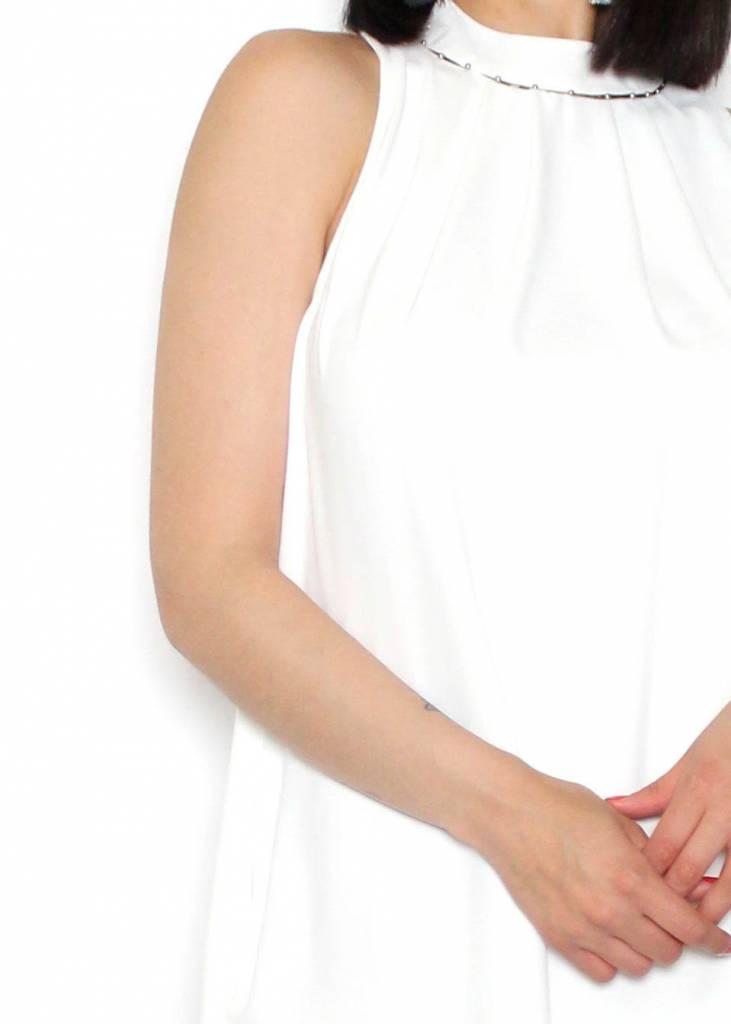 MOLLY WHITE HALTER DRESS