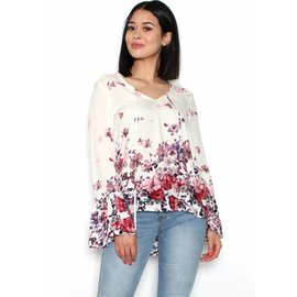 LYDIA FLORAL BELL SLEEVE TOP