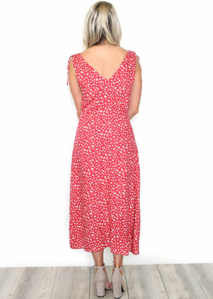 LUCY BUTTON UP MIDI DRESS