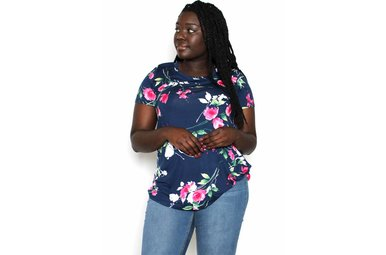 JANE NAVY FLORAL T-SHIRT