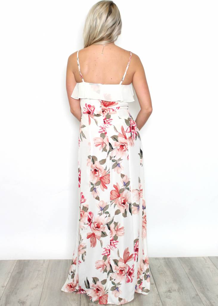 ARABELLA FLORAL RUFFLED MAXI DRESS