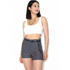 TAYLOR STRIPED HIGH WAIST SHORTS