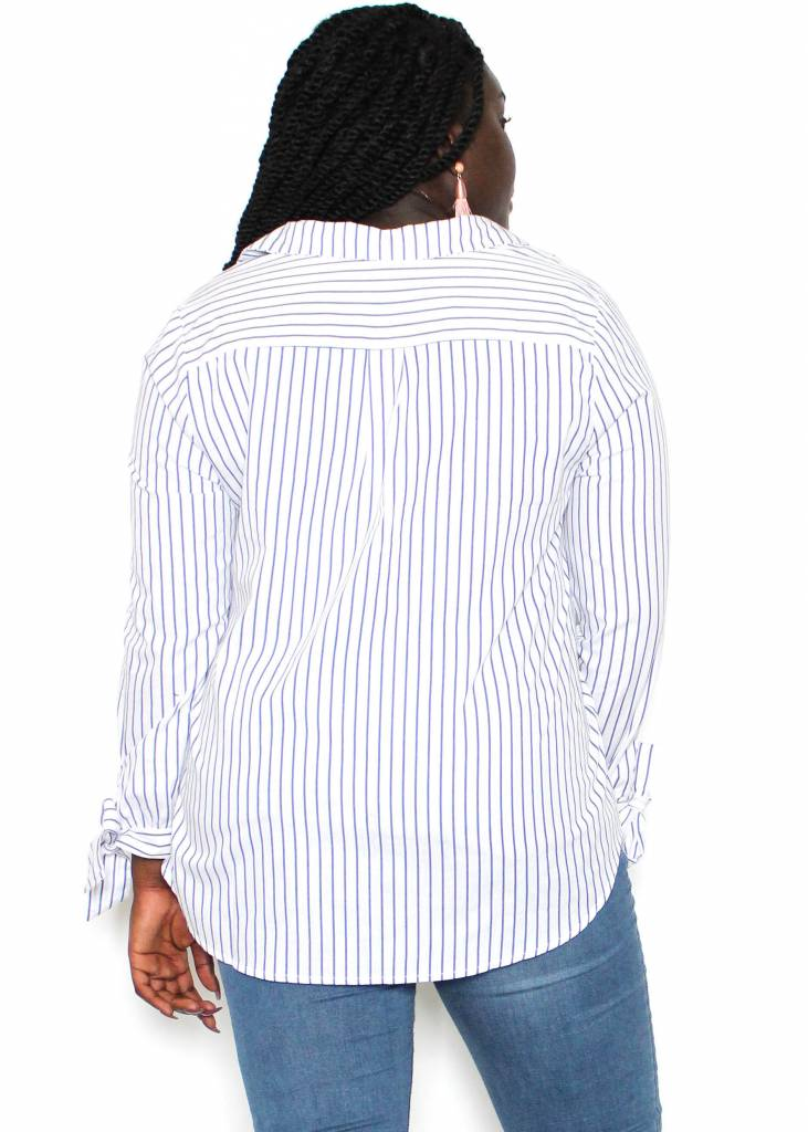 PAISLEE STRIPED BUTTON UP
