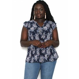 THEA NAVY FLORAL TOP