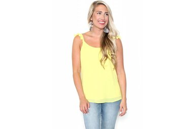SUNSHINE RUFFLE TANK TOP