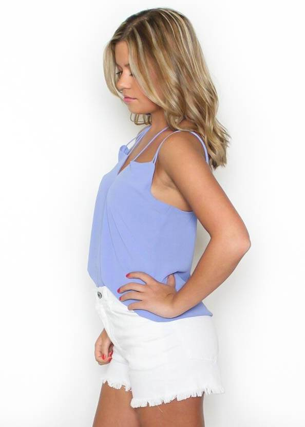 VIOLET STRAPPY TANK TOP