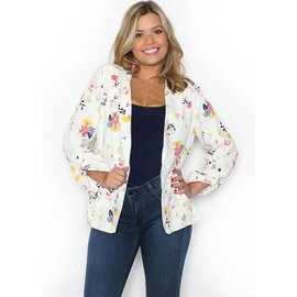EVERLEE CREAM FLORAL BLAZER