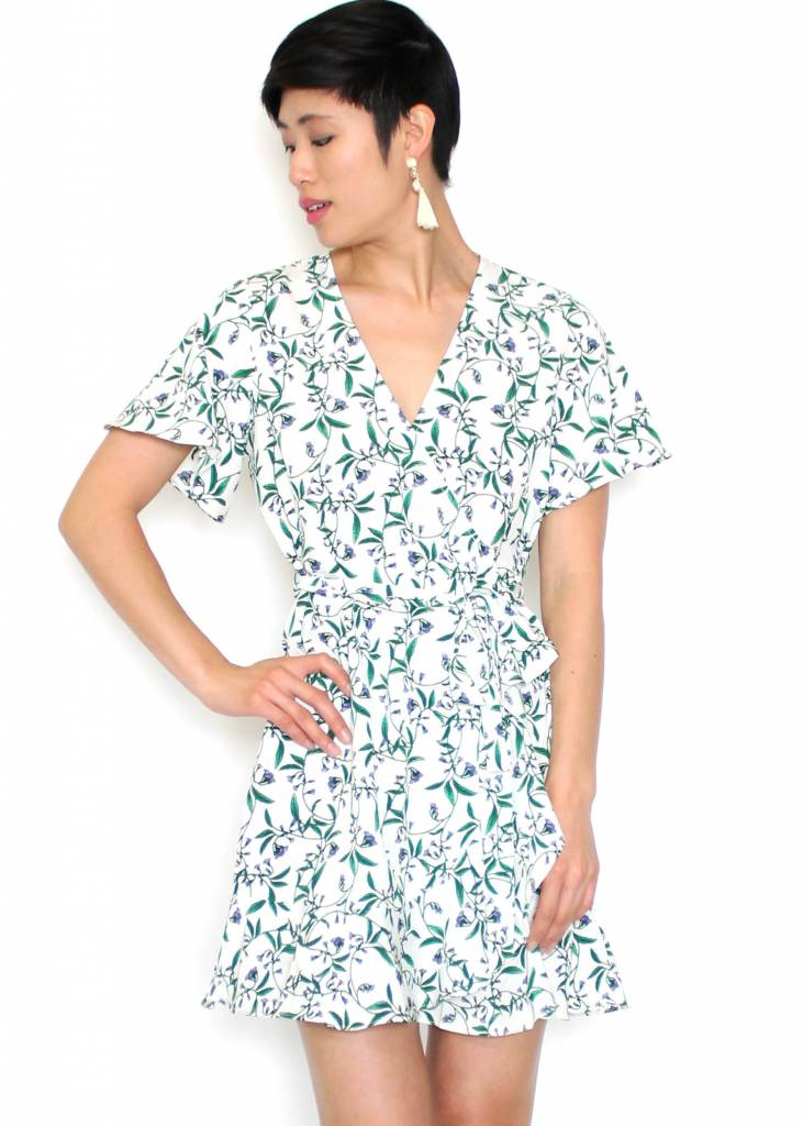 ANYA PRINTED WRAP DRESS