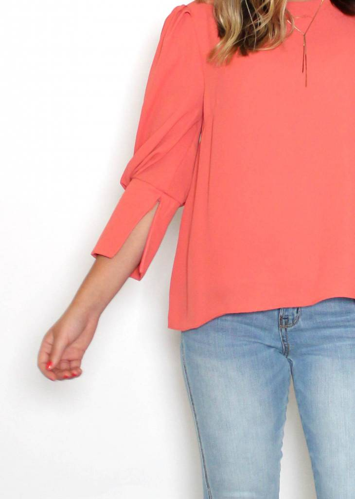 CLAIRE CORAL TOP