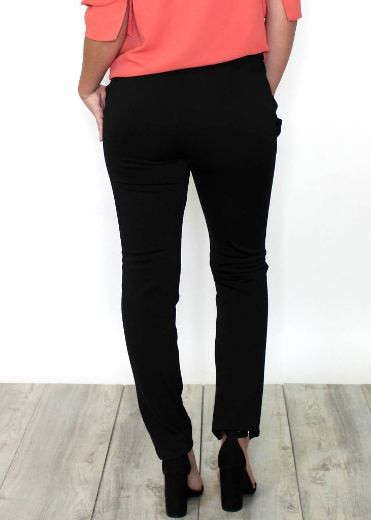 BRITT BLACK RUFFLE DRESS PANTS