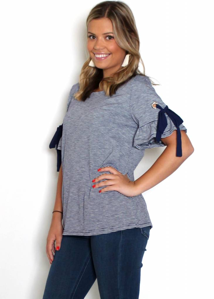 STACEY NAVY STRIPED TOP