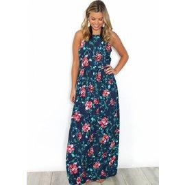 SOFIA FLORAL HATLER MAXI DRESS
