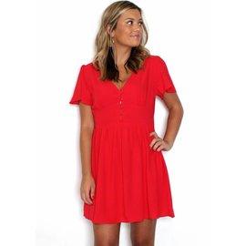 FREIDA RED MINI DRESS