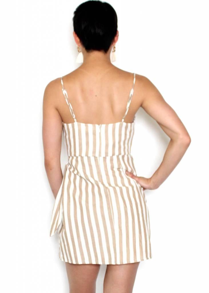 SYDNEY STRIPED SIDE TIE DRESS