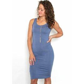 DANI DUSTY BLUE BODYCON DRESS