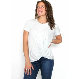 KATE KNOTTED SHORT SLEEVE T-SHIRT