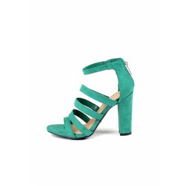 GIANNA GREEN STRAPPY HEELS