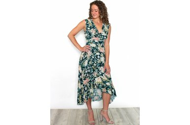 SAMMY SLEEVELESS FLORAL MAXI DRESS